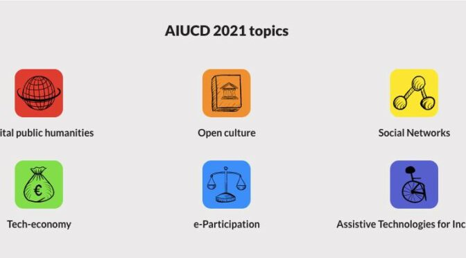 AIUCD 2021 – DH for society: e-quality, participation, rights and values in the digital age